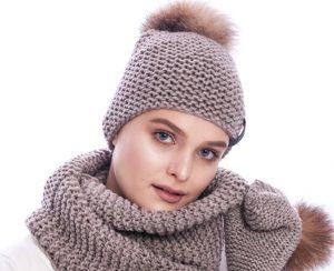 Megzta žieminė moteriška kepurė   fur.lt/kepures nuotr.