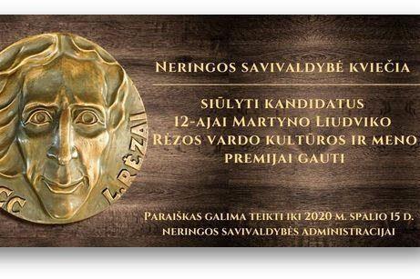 Kviečiama siūlyti asmenis Martyno Liudviko Rėzos vardo kultūros ir meno apdovanojimui | Neringos savivaldybės nuotr.