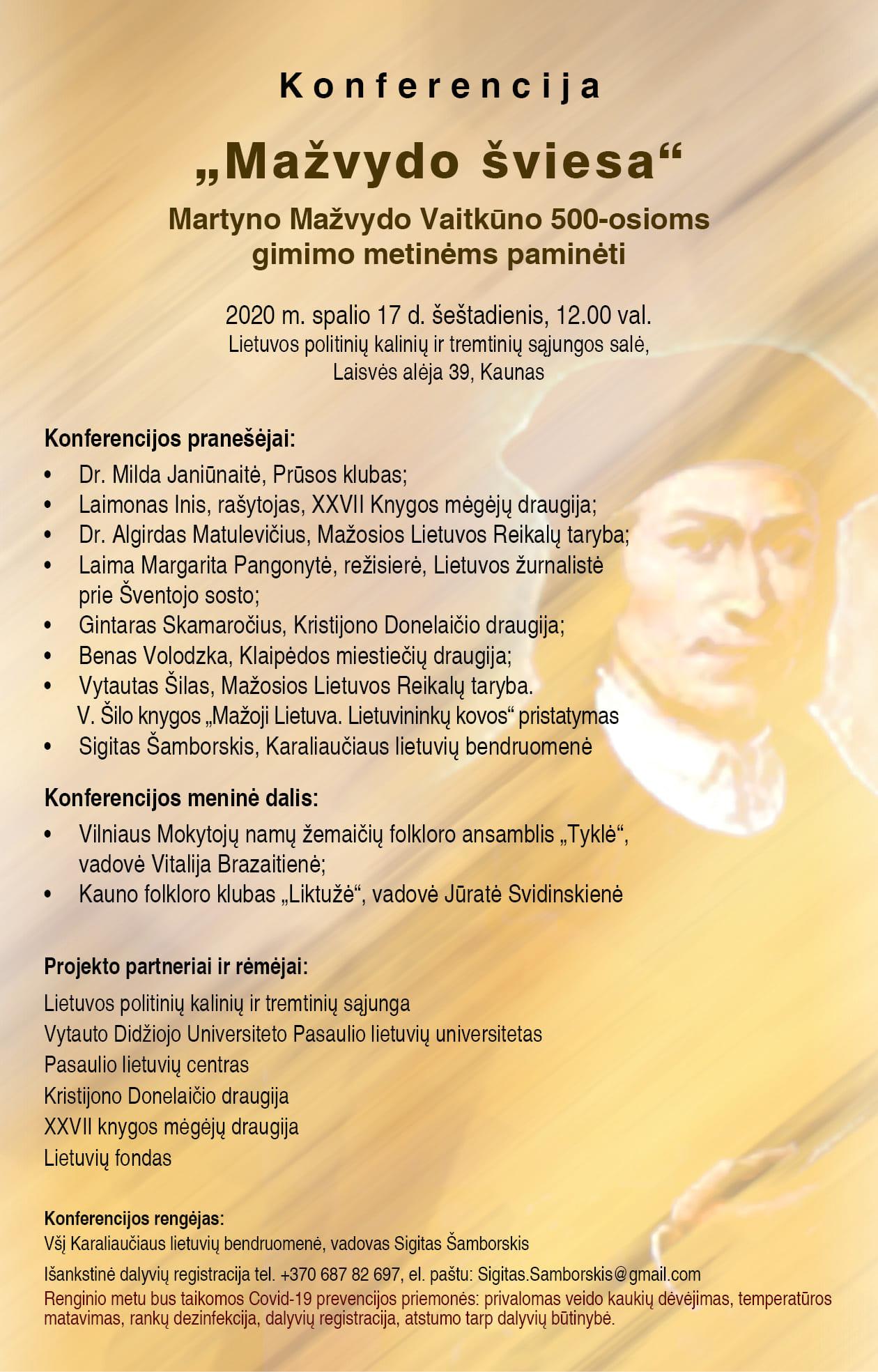 2020 10 17 Martynas Mažvydas