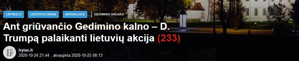 Screenshot_2020-10-25 Ant griūvančio Gedimino kalno – D Trumpą palaikanti lietuvių akcija