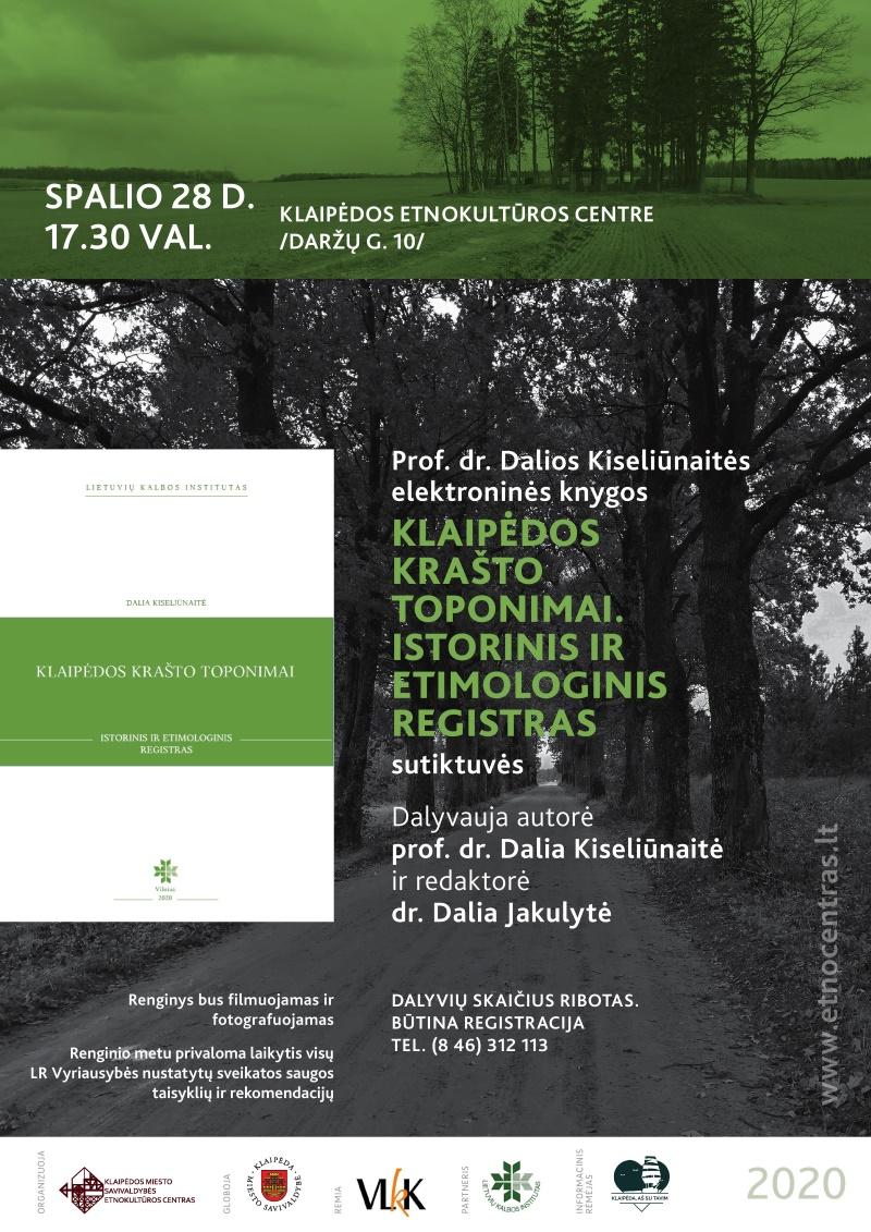 Klaipėdoje bus pristatyta D. Kiseliūnaitės el. knyga apie Klaipėdos krašto toponimus | Rengėjų nuotr.