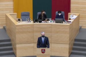 Kandidatės į Ministrus Pirmininkus pristatymas Seime | lrs.lt nuotr.