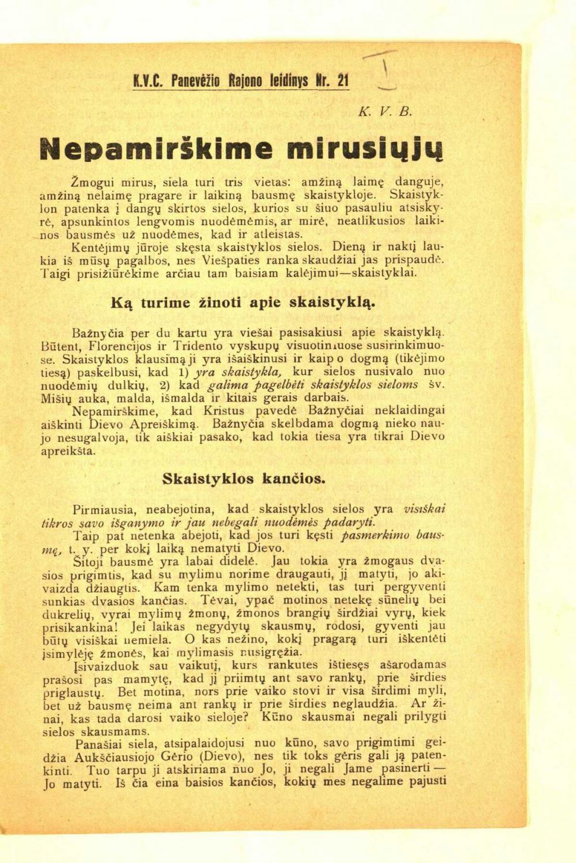Butvila, Vladislovas. Nepamirškime mirusiųjų | lnb.lt nuotr.
