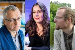 Alvydas Šlepikas, Kristina Sabaliauskaitė ir Marius Burokas   J. Stacevičius, D. Umbrasas, LRT ir V. Braziūno fotokoliažas nuotr.