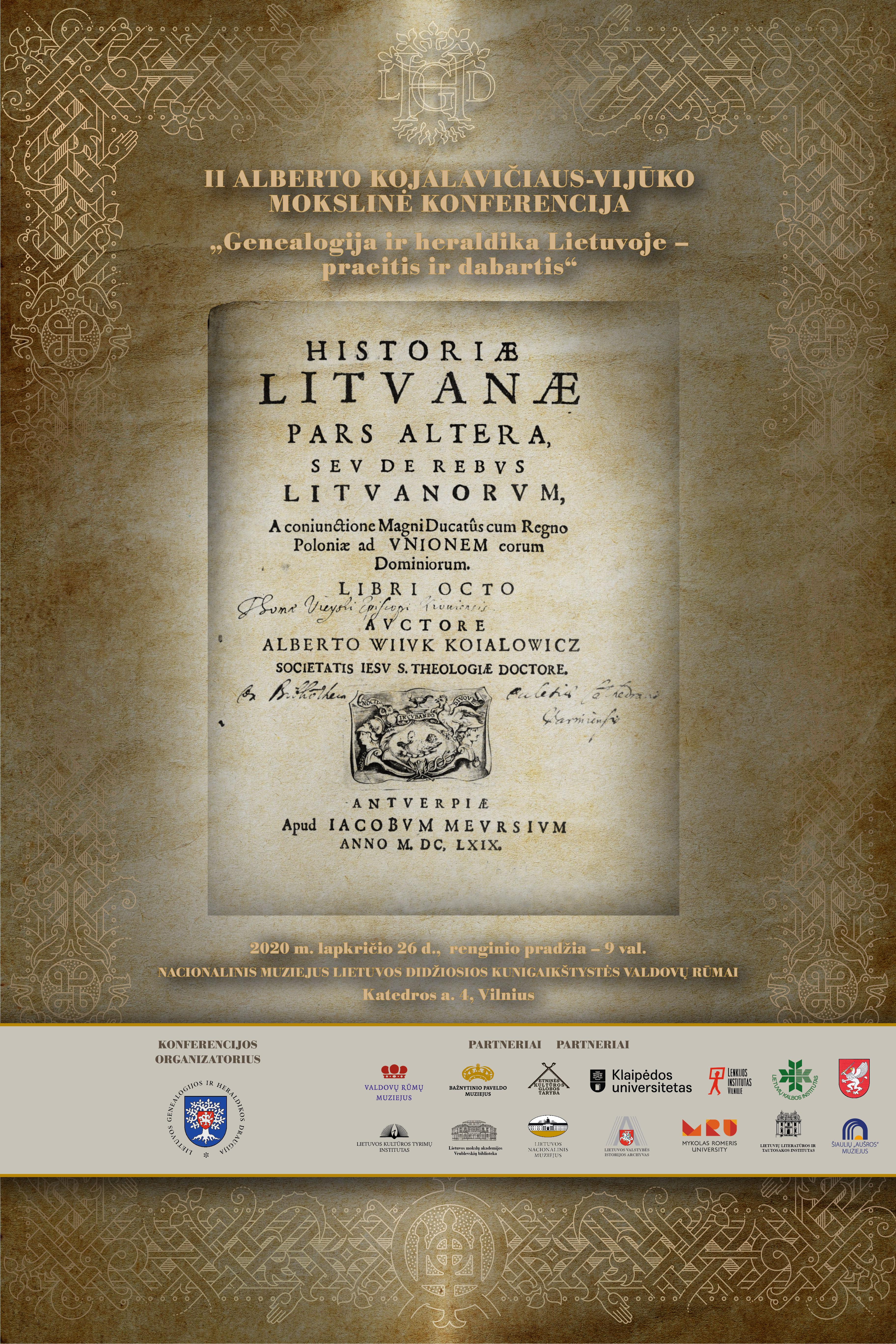 A. Kojalavičiaus-Vijūko konferencija | Lietuvos genealogijos ir heraldikos draugijos nuotr.