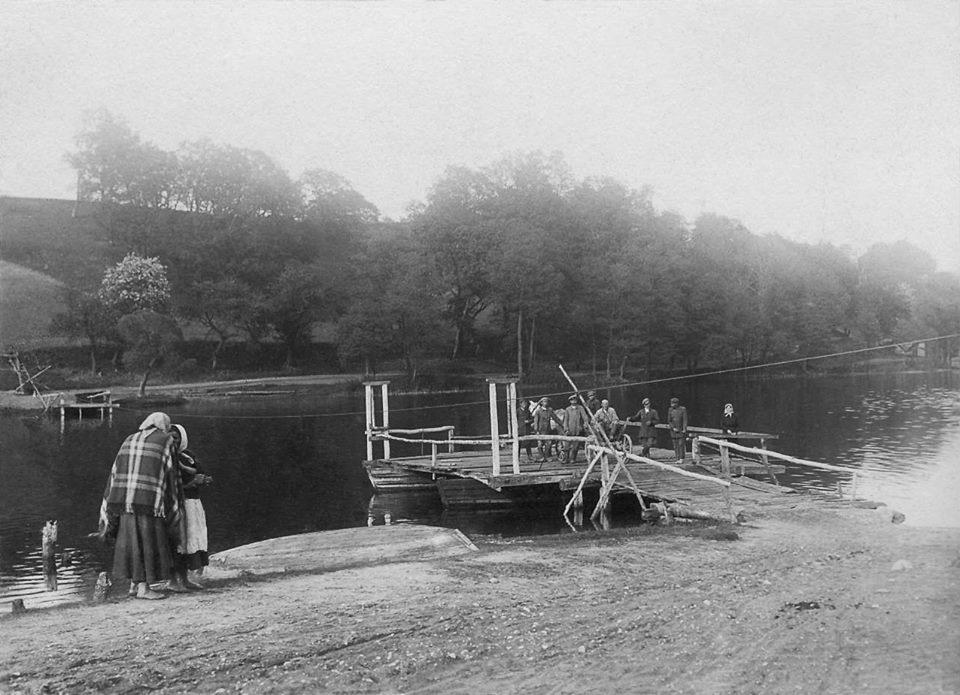 Keltas per Asveją. 1929 m.   satenai.lt nuotr.