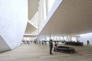 Nacionalinės koncertų salės koridorius vedantis prie įėjimo | Vilniaus miesto savivaldybės nuotr.