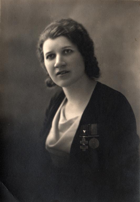 1918 m. Malvina Šokelytė-Valeikienė (1898–1981) | Valeikų giminės archyvo nuotr.