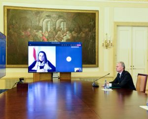 G. Nausėda ir S. Cichanouskaja   prezidentas.lt nuotr.