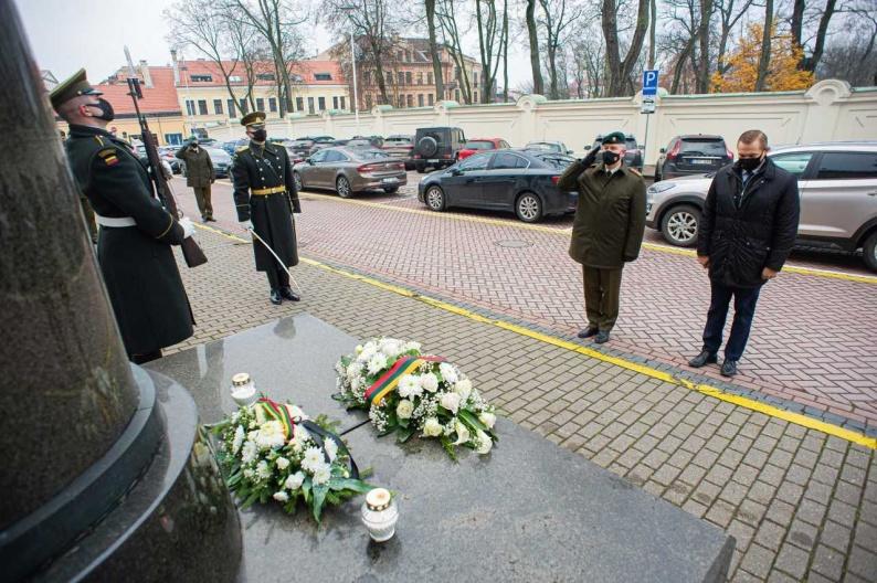 Paminėtos ketvirtojo Lietuvos Prezidento Jono Žemaičio-Vytauto sušaudymo 66-osios metinės   A. Pliadis, KAM nuotr.