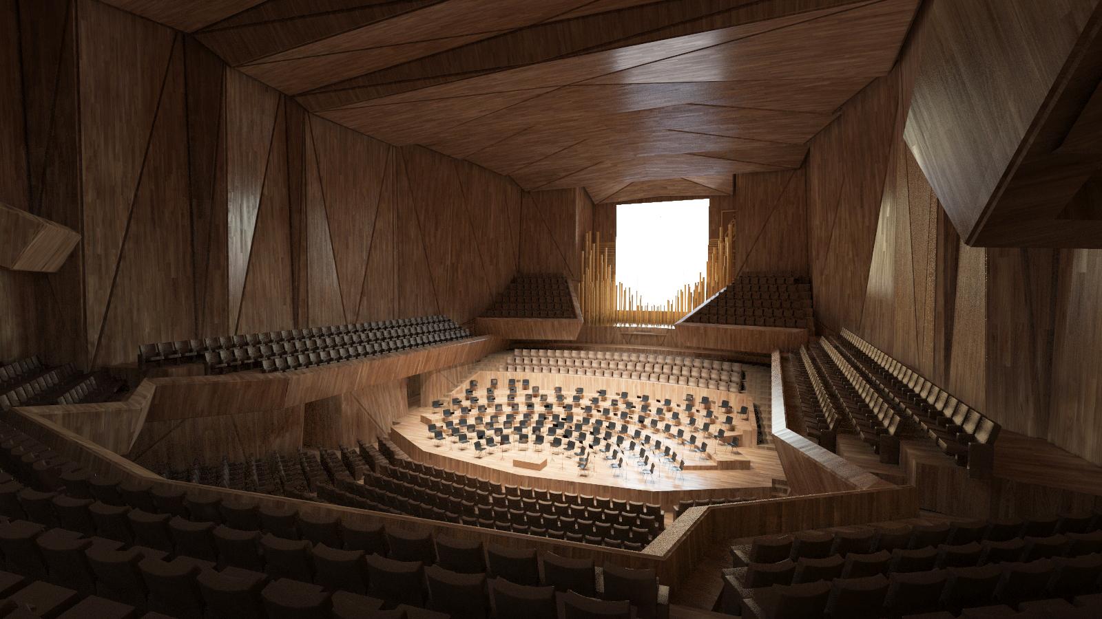 Nacionalinės koncertų salės pagrindinė didžioji salė | Vilniaus miesto savivaldybės nuotr.