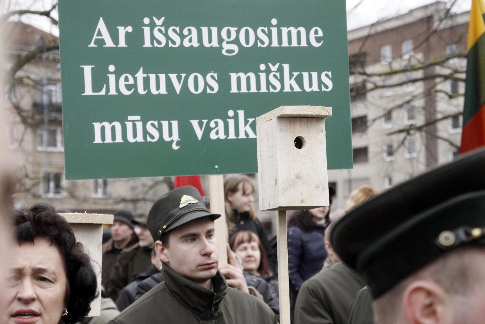 Kova už Lietuvos miškus | Asociatyvi redkacijos nuotr.
