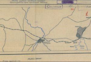 1941 m. molio telkinio prie Rubikių žvalgybos žemėlapis | lrv.lt nuotr.