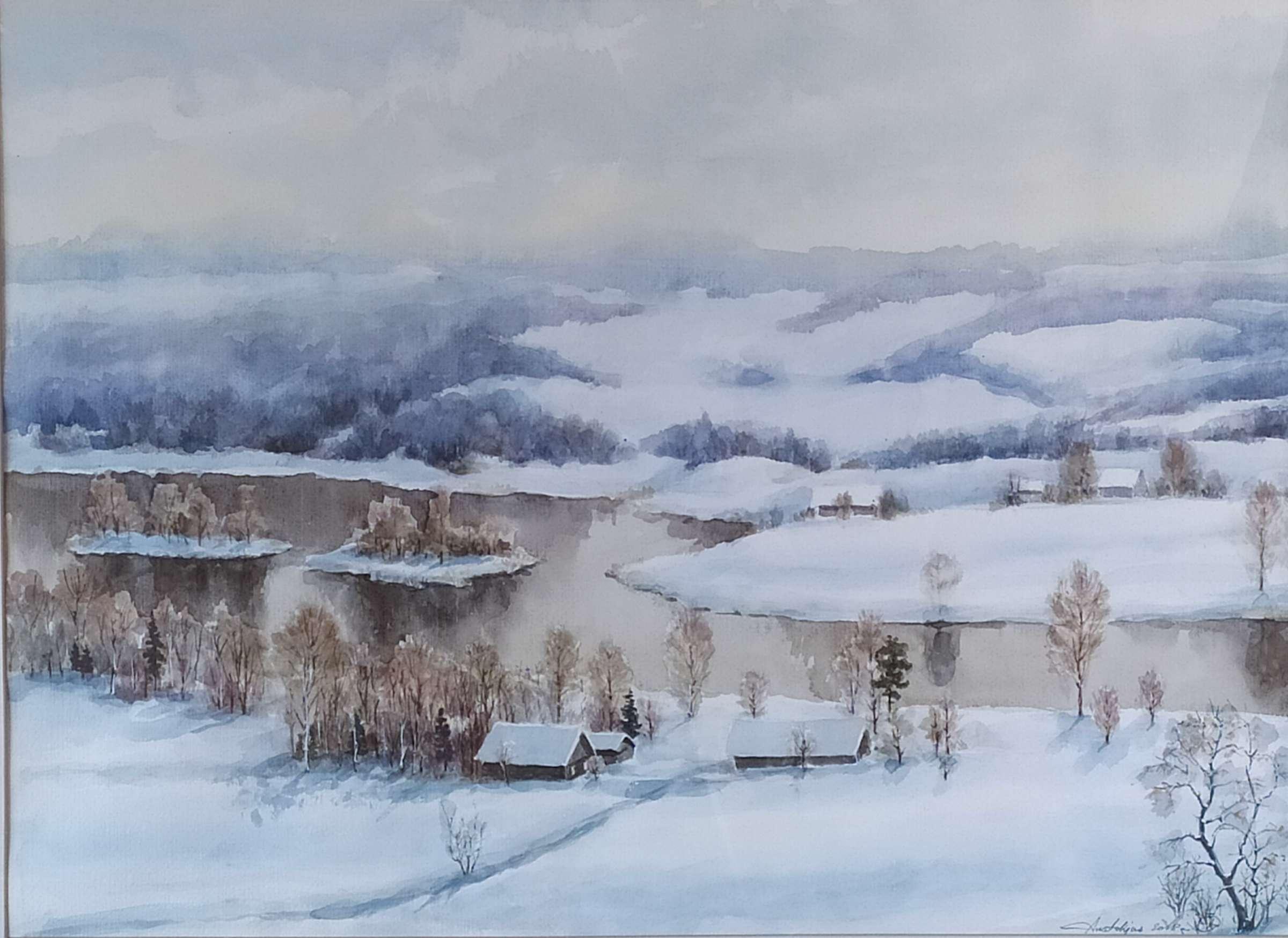 """Anatolijus Ščiogolevas """"Kernavė žiemą""""   rengėjų nuotr."""