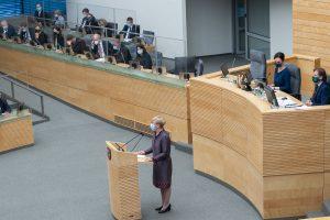 Vyriausybės programos pristatymas Seime | lrs.lt nuotr.