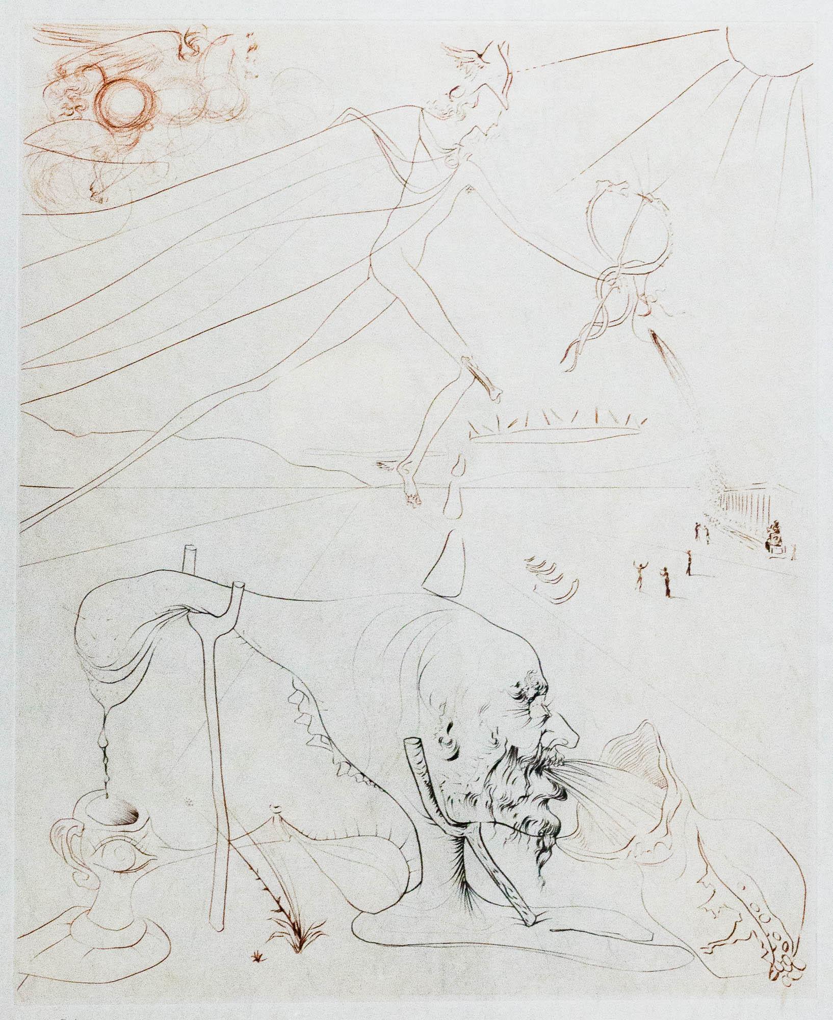 """S. Dali sausa adata atliktas kūrinys """"Alchemikas   Vilniaus aukciono namų nuotr.L'Alchemiste"""" (1973–1975)  """