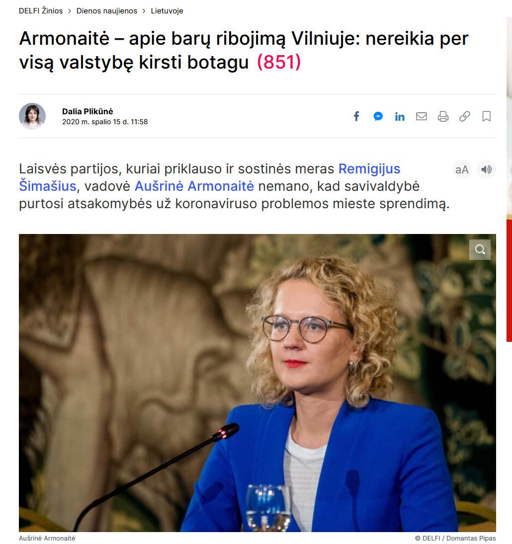 Screenshot_2020-12-14 Armonaitė – apie barų ribojimą Vilniuje nereikia per visą valstybę kirsti botagu