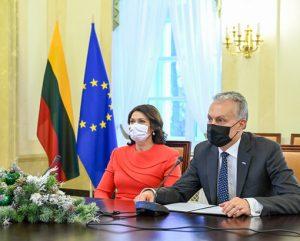 Nuotolinis susitikimas Prezidentūroje   prezidentas.lt nuotr.