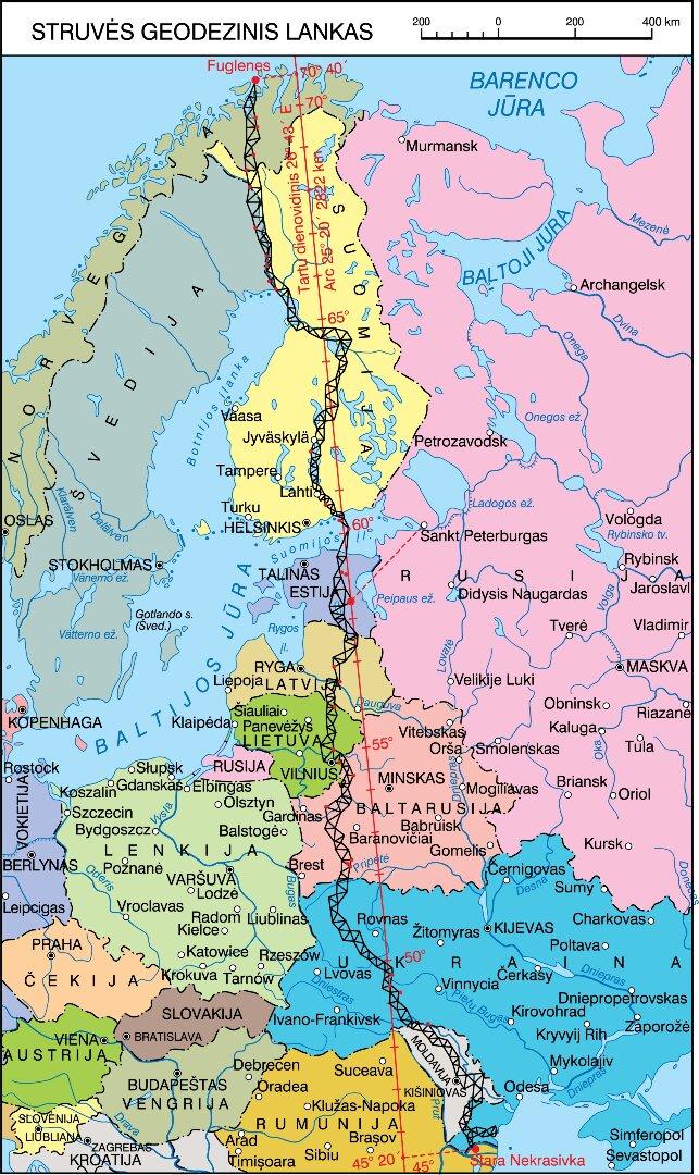 Struvės geodezinis lankas | lt.wikipedija.org nuotr.