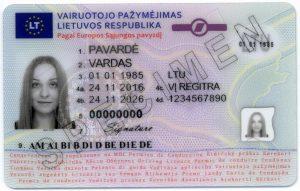 Vairuotojo pažymėjimas   regitra.lt nuotr.