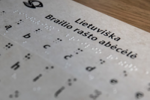 Brailio raštas | lrs.lt nuotr.