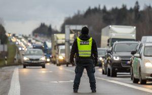 Policija, judėjimo ribojimai | vrm.lrv. lt nuotr.