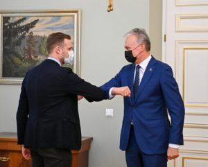 G. Landsbergis ir G. Nausėda | prezidentas.lt nuotr.