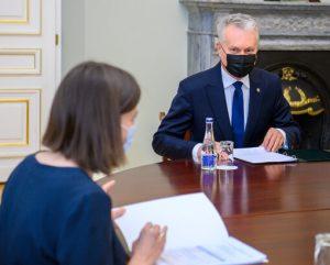 G. Skaistės ir G. Nausėdos susitikimas | prezidentas.lt nuotr.