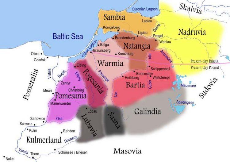 Prūsų gentys XIII a.