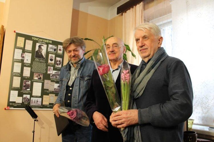 Gediminas Storpirštis, Vladas Turčinavičius, Algimantas Bučys | V. Krėvės-Mickevičiaus memorialinio muziejaus nuotr.