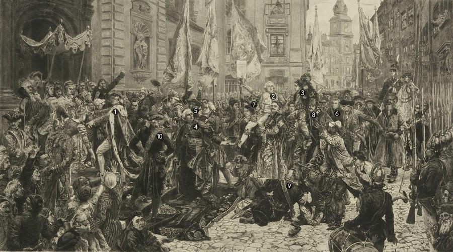 Gegužės 3-iosios Konstitucijos paskelbimas Varšuvoje | J.Mateikos paveikslas
