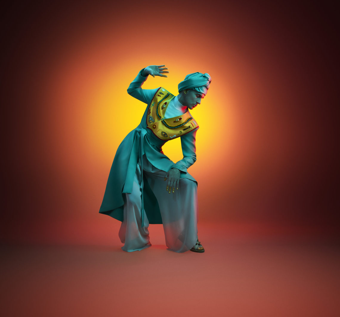 Dovilė Filmanavičiūtė pristato Vidos Strasevičiūtės (Upcycled by LT) kurtą kostiumą, įkvėpta muziejaus etnografinės ekspozicijos. | O. Točickaja, OKTO Photography nuotr.