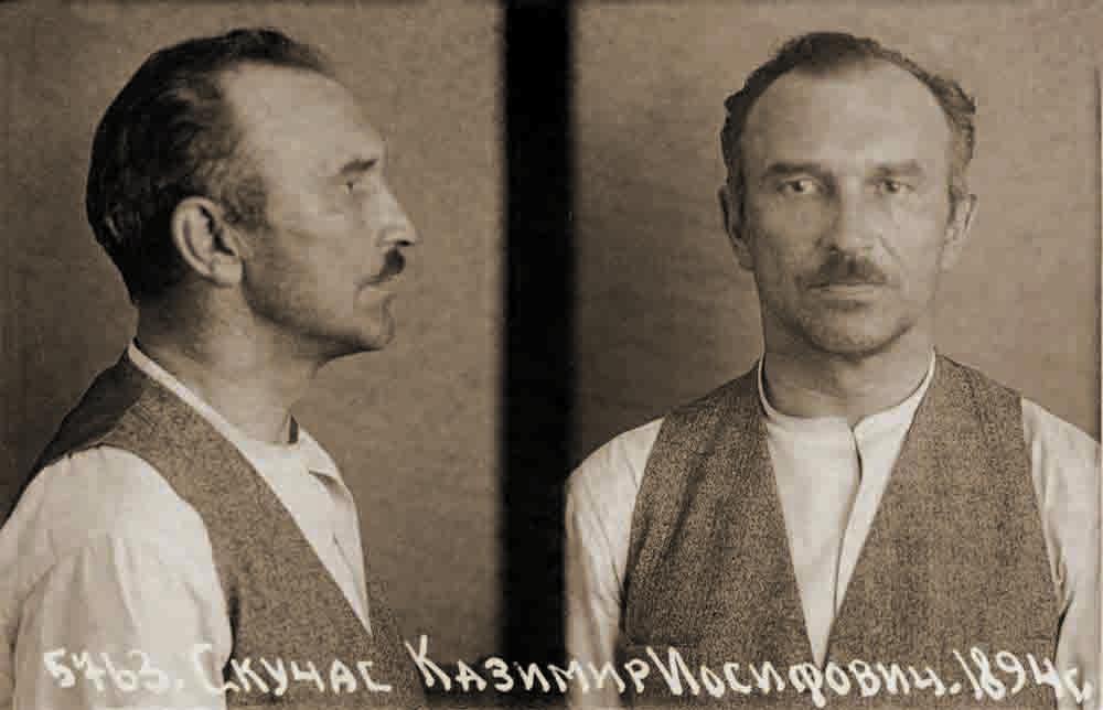 Kazimieras Skučas Liubiankos kalėjime Maskvoje. 1940 m.   Lietuvos ypatingojo archyvo nuotr.