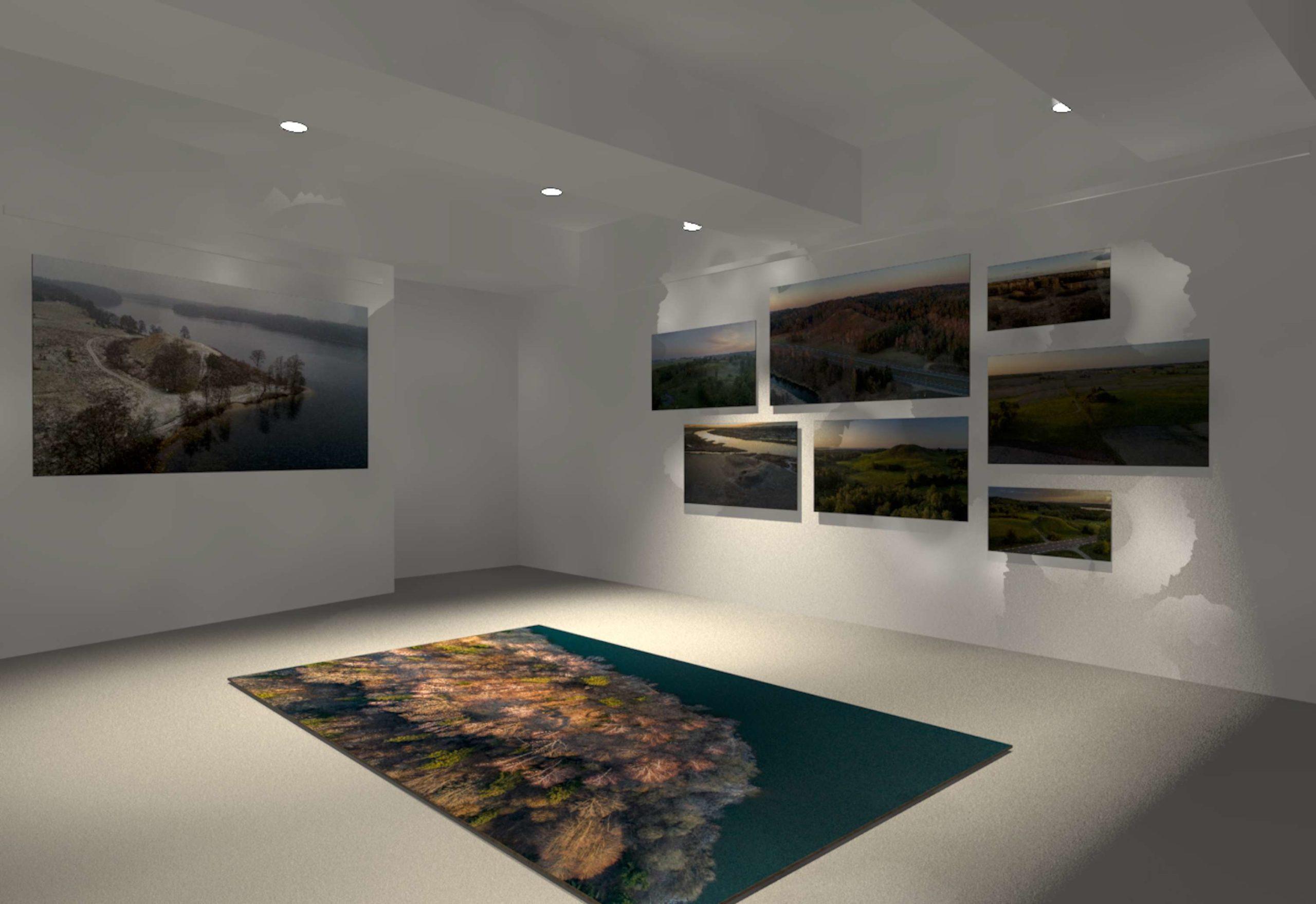 Busimos parodos Zagrebe vizualizacija dar prieš ją įrengiant | LNM nuotr.