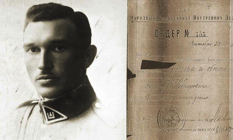 Kazimieras Skučas 1925–1926 ir jo suėmimo orderis | LCVA nuotr.
