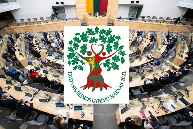 Seimas svarstys Didįjį šeimos gynimo maršą palaikančią rezoliuciją | Alkas.lt koliažas