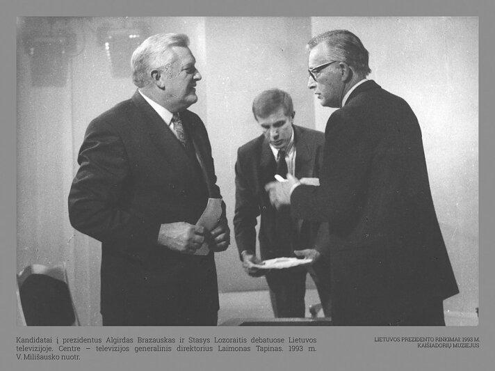 Algirdas Brazauskas ir Stasys Lozoraitis. Pirmieji Lietuvos Respublikos prezidento rinkimai | Kaišiadorių muziejaus nuotr.