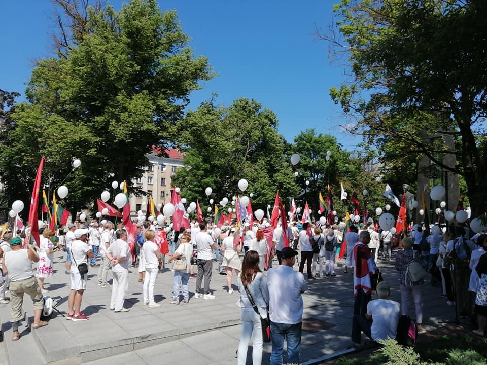 Šeimos gynėjų protesto akcija prie Vyriausybės | V. jašinsko nuotr.