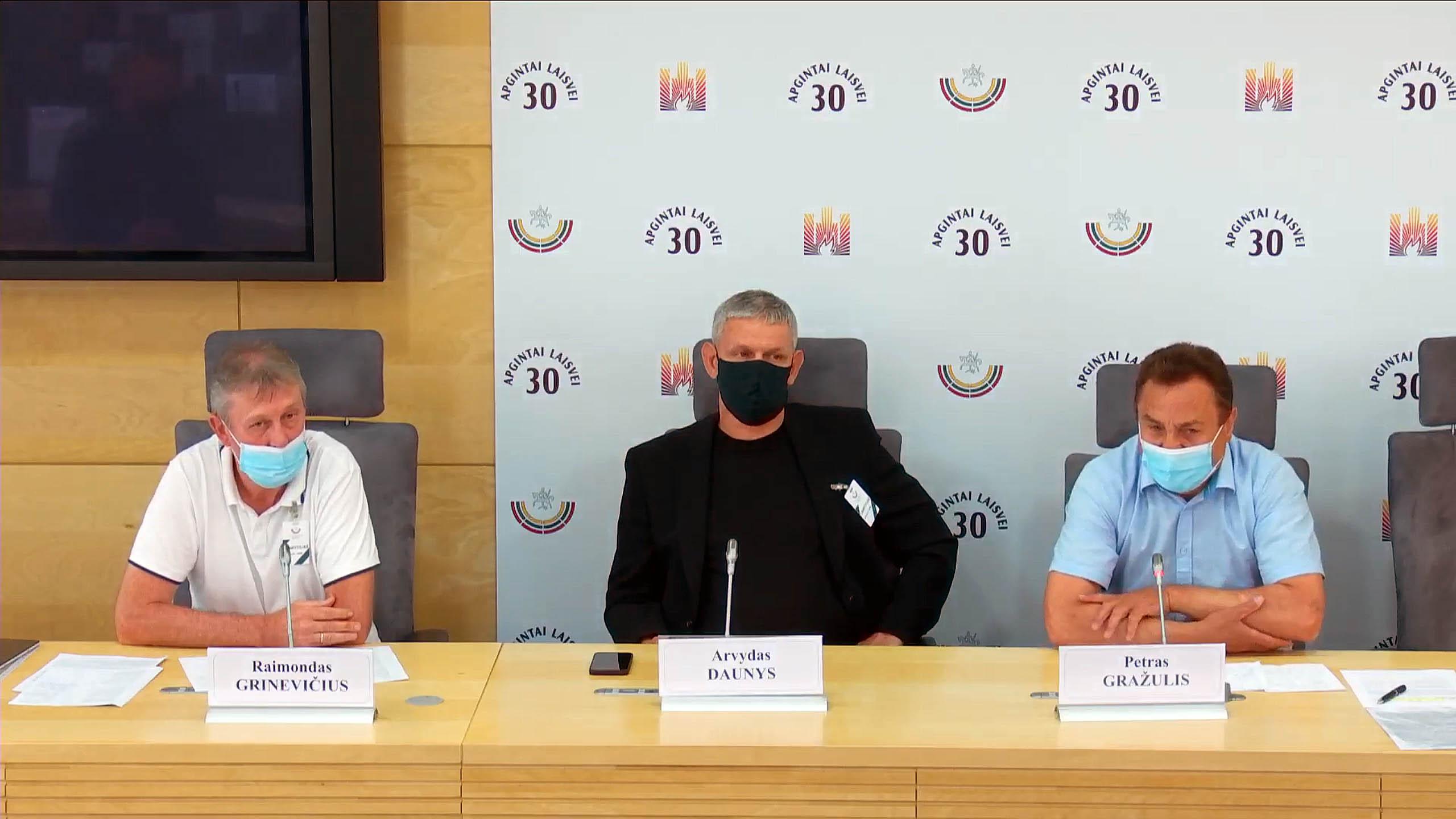 Raimondas Grinevičius, Arvydas Daunys, Petras Gražulis   Alkas.lt nuotr.