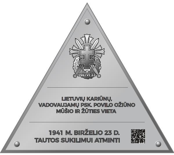 Atminimo lenta žuvusiems kariūnams žūties vietoje M. Paco ir Saulės gt. sankryžoje | S. Gorodeckio nuotr.