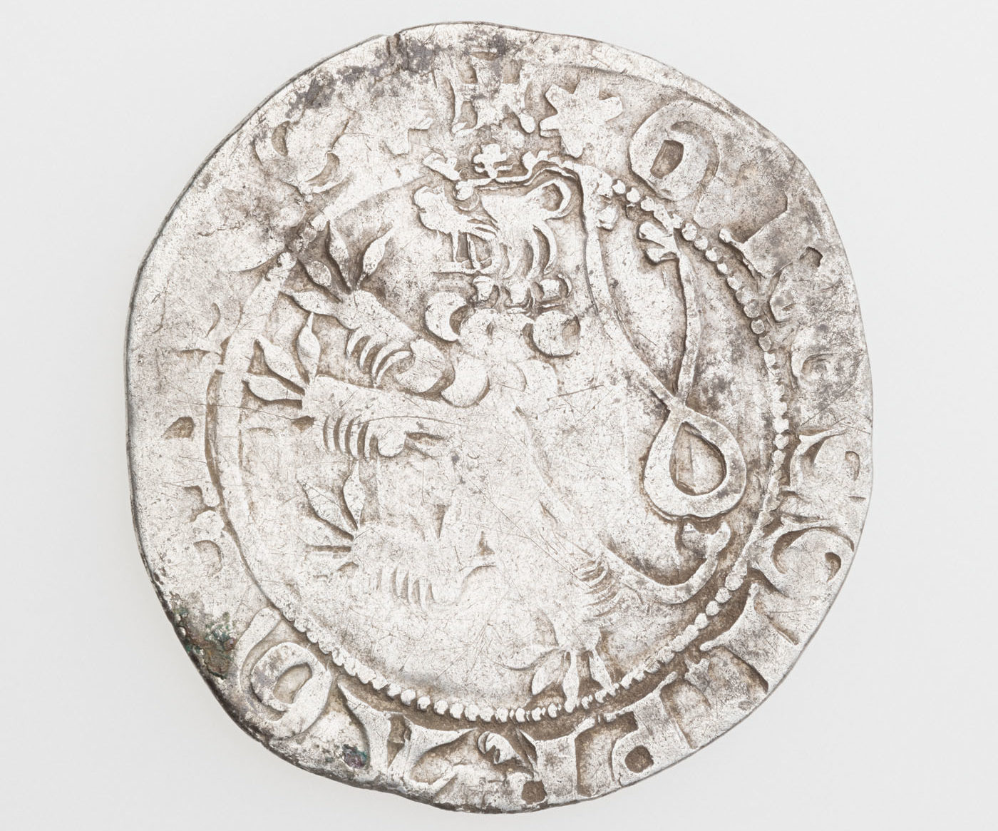 Jono I Liuksemburgiečio (1310-1346) laikų Prahos grašis - seniausia lobio moneta | LNM, G. Trečioko nuotr.