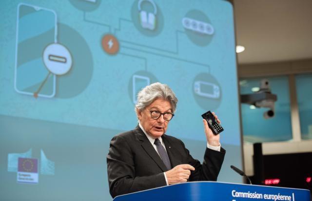 Europos Komisijos nario Tjeri Bretono spaudos konferencija apie bendrąjį įkroviklį | ec.europa.com nuotr.
